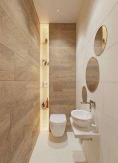 Beautiful Small Bathrooms, Small Bathroom Colors, Small Bathroom Vanities, Tiny Bathrooms, Modern Bathroom Design, Bathroom Designs, Modern Bathrooms, Master Bathrooms, Bathroom Mirrors