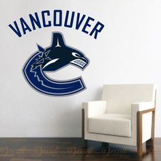 Shop Hockey style wall stickers to add inspiration to your game room. Logo Sticker, Wall Decal Sticker, Wall Stickers, Hockey Logos, Ice Hockey Teams, Vancouver Canucks Logo, Sports Wall Decals, Workout Rooms, Sports Logo