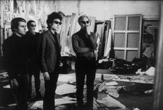 Dylan and Warhol, 1965. Photo by Nat Finkelstein