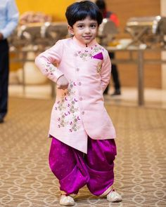 Indian Dresses For Kids, Kids Indian Wear, Dresses Kids Girl, Kids Outfits, Toddler Outfits, Dress Outfits, Ethnic Wear For Boys, Kids Wear Boys, Baby Boy Ethnic Wear