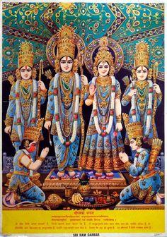 Rama, Sita, Bharat,Laxman, Satrugan n Hanuman