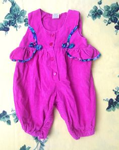 90s Hot Pink Romper 3/6 Months by lishyloo on Etsy