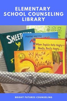 Must Have Books in Your Elementary School Counseling Library — Bright Futures Counseling #brightfuturescounseling #elementaryschoolcounseling #elementaryschoolcounselor #schoolcounseling #schoolcounselor #schoolcounselingbooks #counselingbooksforkids