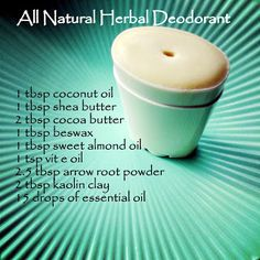 Nurturing Soul: Natural herbal deodorant recipe
