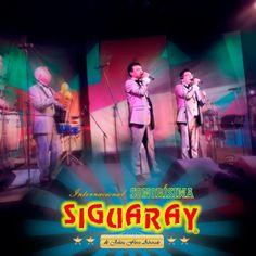Los cantantes de la Internacional Sonorisima Siguaray Benny Sierra, Fausto Hernández y Lalo Huerta.