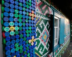 Retired Russian Woman Decorates Her Home With 30,000 Bottle Caps