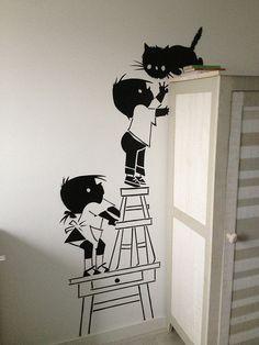 untilted Hotel Room Design, Baby Room Design, Wall Design, Creative Wall Painting, Diy Wall Art, Wall Decor, Bedroom Art, Kids Bedroom, Cute Galaxy Wallpaper