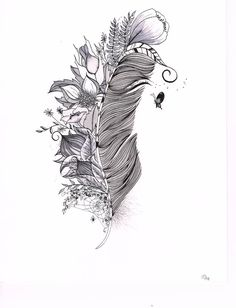 Tattoo design or displayable art original India ink by SlowDesigns, $47.00