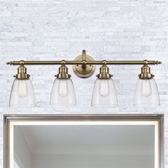 Bel Air Lighting Number Of Lights-Uom:Na-Light Soft Tone Gold Standard Bathroom Vanity Light
