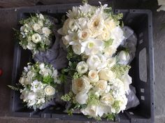 Zita Elze Flowers - Lily and Victor's wedding at Aynhoe Park - photography Lucy Davenport. Bridesmaids' bouquets.
