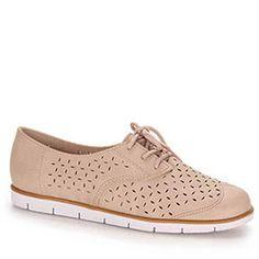 Sapato Oxford Feminino Moleca - Nude - 99,99