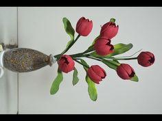 Mega Flores - Flores em EVA - TULIPA (passo a passo) - YouTube