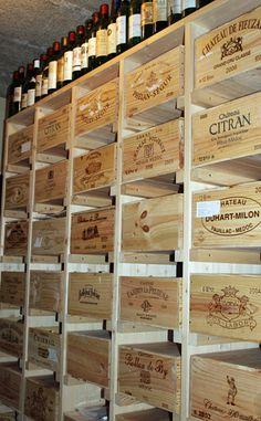 Ivo Marty Holzbau und Schreinerei :: Weingestell fuer Bordeaurfreunde :: stilvolle Weingestelle aus eigener Produktion nach Kundenwunsch