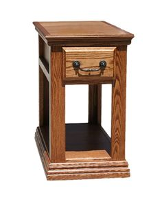 OD O T251   Traditional Oak Chairside End Table