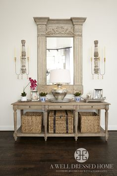 Entry Way Decor by A Well Dressed Home, LLC. To see more designs, please go here: http://awelldressedhome.com/portfolio/miller-living-room-3/