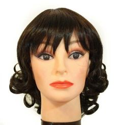 """13"""" Long Dark Brown Big Curl / Bangs Synthetic Wig [Apparel] by Willowbee. $34.99. Rich Hair Fibers. Mostly adjustable to your desired fitment. Color in these hair piece wigs will NOT fade or oxidize after long period in direct sunlight. These Wigs are Easy to Maintain. These hair pieces are Light and Comfortable. 13"""" Long Dark Brown big curl / bangs synthetic wig"""