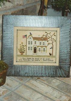 CHESSIE & ME - 1890 House Sampler - Primitive Cross Stitch Pattern  - Designed by Linda Lautenschlager