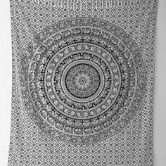 I want some sort of black and white or grey tapestry for the head of my bed