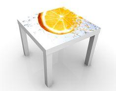 #Beistelltisch - Splash Orange - Tisch Gelb Weiß #Orange #Früchte #fruit #fruits #Frucht #love #fruchtshake #Obst #sweet #süß #Früchtchen #Wandgestaltung #Wandeko #Deko