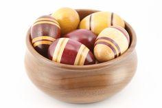 Easter Egg Segmented Wooden Lathe Turned Wood Handmade - Padauk, Maple, Yellowheart, Purpleheart - Junction Trade by JunctionTrade on Etsy
