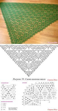 Crochet Shawl Diagram, Crochet Square Patterns, Shawl Patterns, Crochet Poncho, Crochet Chart, Crochet Scarves, Crochet Clothes, Crochet Lace, Crochet Stitches