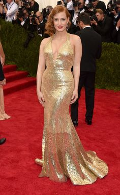 Jessica Chastain from 2015 Met Gala Arrivals   E! Online