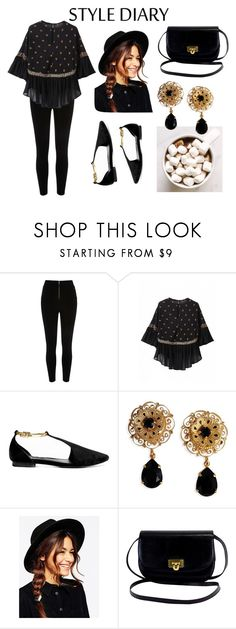 """""""easy black."""" by chiarapers ❤ liked on Polyvore featuring Dolce&Gabbana and ASOS"""