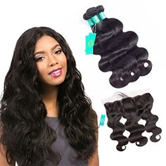 KONGHUI Malaysian Body Wave Lace Frontal Closure with Hair Bundles Pack of 4 22 24 26 with 20 >>> Visit the image link more details-affiliate link. #BeautySalonEquipment