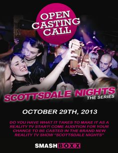 SMASHBOXX Ultra Club – TUESDAY Scottsdale Nights Open Casting Call – 10.29.2013