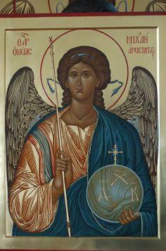 Pyhä Ylienkeli Mikael Religious Images, Religious Icons, Religious Art, Byzantine Icons, Byzantine Art, Greek Icons, Archangel Michael, Art Icon, Orthodox Icons