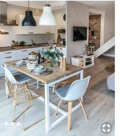 decordemon: Cozy house in Poland by architecture studio Shoko design - Interior Ideas Home Interior, Kitchen Interior, Kitchen Decor, Interior Design, Kitchen Layout, Küchen Design, House Design, Design Ideas, Modern Design