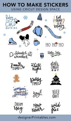 How to Print then Cut Stickers using Cricut Design Space - Air Cricut Explore Air, Cricut Air, Cricut Vinyl, Cricut Cards, Printable Sticker Paper, Cricut Print And Cut, How To Make Stickers, Making Stickers, Cricut Tutorials