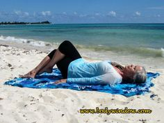 The Twisted Roots Pose starting position with your kegs in the Eagle Pose. This is a Yin Yoga pose, that I am doing on the beach in Playa del Carmen. Learn more about how to set up and practice this intensely therapeutic pose. Yin Yoga Poses, Yoga Poses For Men, Yoga For Men, Eagle Pose, Mind Body Soul, How To Do Yoga, Fitness Fashion, Beach Mat, Roots