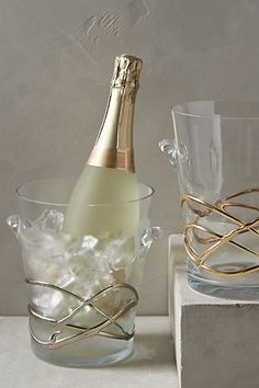 glimmer wrapped ice bucket #anthropologie #anthroregistry