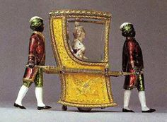 """The Catherine the Great Faberge egg of 1914.  This automaton could """"walk"""" out of the egg."""