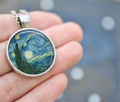 Van Gogh Starry Night Necklace - Livin' Freely  - 1