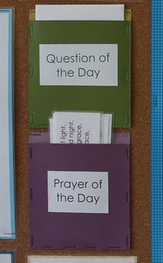 Question of the Day and Prayer of the Day- Love this idea!