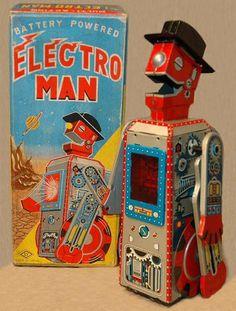 Robots Toy Space Toys Pink Vintage Japan Tin Robots Japan Tin Car ...