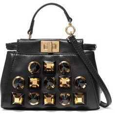 Fendi Peekaboo micro studded leather shoulder bag