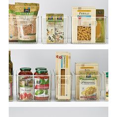 The Container Store > Linus™ Pantry Binz™ Spice Organization, Organizing Tips, Kitchen Pantry, Organized Kitchen, Pantry Storage, Storage Containers, Fusilli, Refrigerator Freezer, Container Store