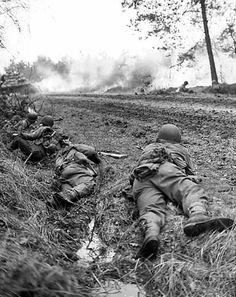 Battalion men under fire in the Staatsforst, Germany on March This photo is also found in the history book on page Motor Gun Carriage men of Calvary Squadron of the Calvary Group take a supper break Sept. American Soldiers, Native American History, American Civil War, Marine Corps Humor, Ww2 History, Ancient History, Ardennes, D Day, Us Army