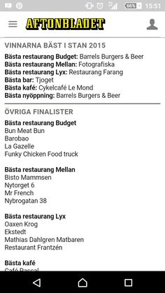 Restauranger bra lista