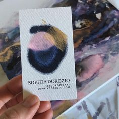 Loved this card so much so made a mini painting to match! Art Business Cards, Mini Paintings, Crochet Hats, Colours, Studio, My Love, Creative, How To Make, Instagram