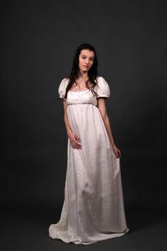Desiree regency wedding dress, empire waist wedding dress, made to measure, jane austen wedding, sense and sensibility, pride and prejudice