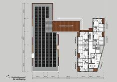 Plattegrond 4e verdieping Multi Story Building, Floor Plans, Floor Plan Drawing, House Floor Plans