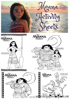 Moana Coloring & Activity Pages
