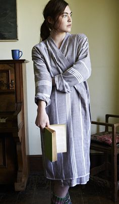 So beautiful -- handwoven Turkish bathrobe. I would never get out of this!