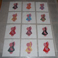 Set of 12 Applique  6 x 6  Quilt Blocks  ... by MarsyesShoppe