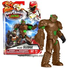 Bandai Year 2015 Saban's Power Rangers Dino Super Charge Series 5 Inch Tall Action Figure - Villain SLEDGE with Blaster