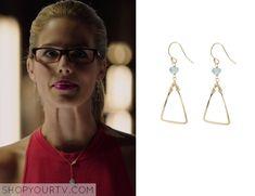 Felicity (s03e02) - Peggy Li Aquamarine Triangle Earrings - $59